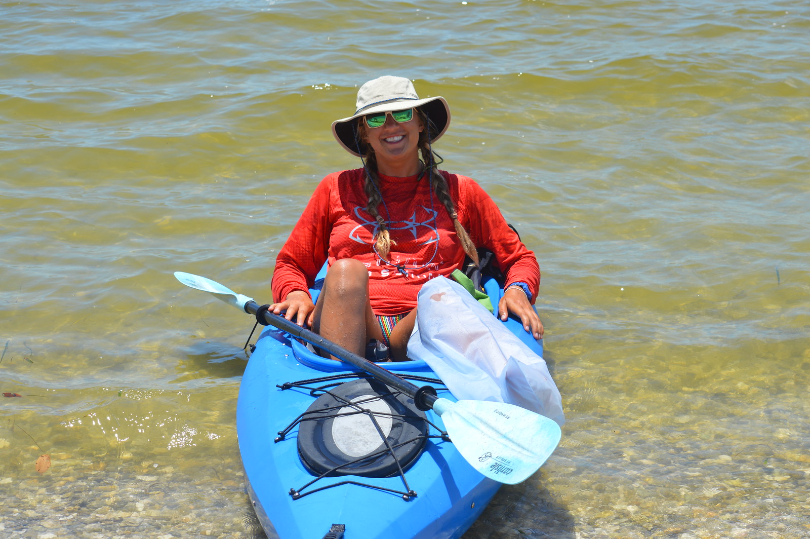 Sun protection is an essential element of paddling safety.