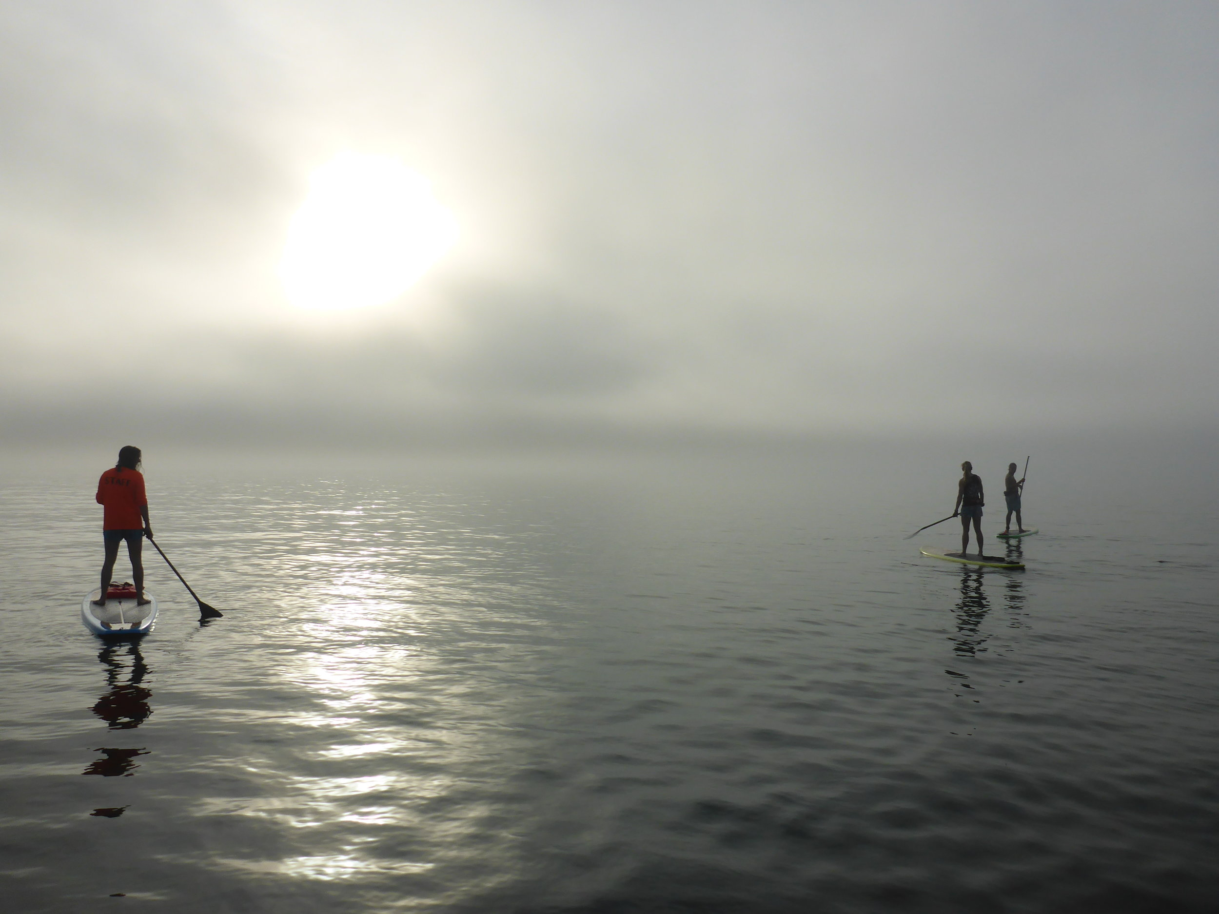 Sanibel Sea School team members participated in a SUP demo day with  Bishop Boards . Photo by Emmett Horvath.