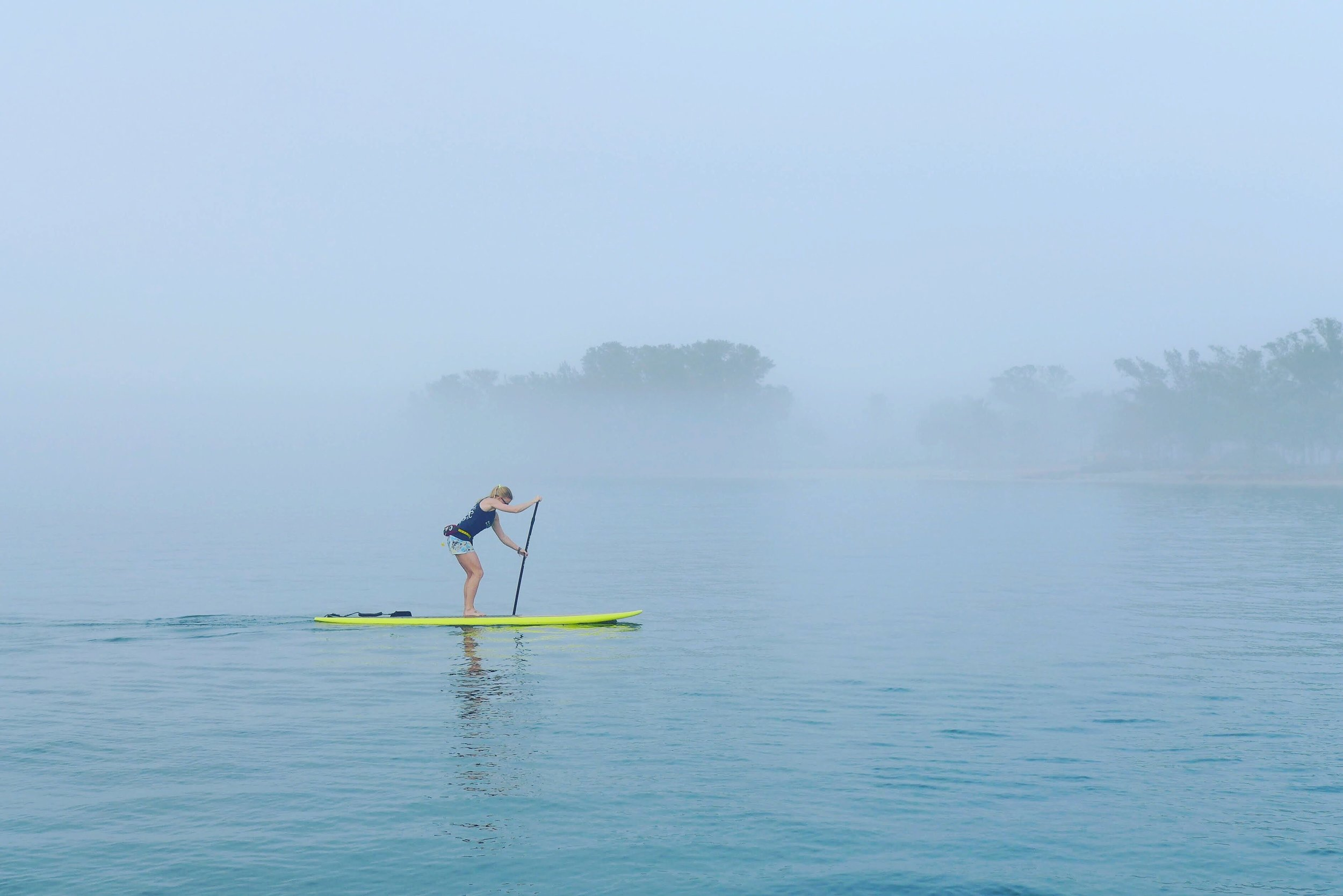 When paddling, focus on technique before speed.