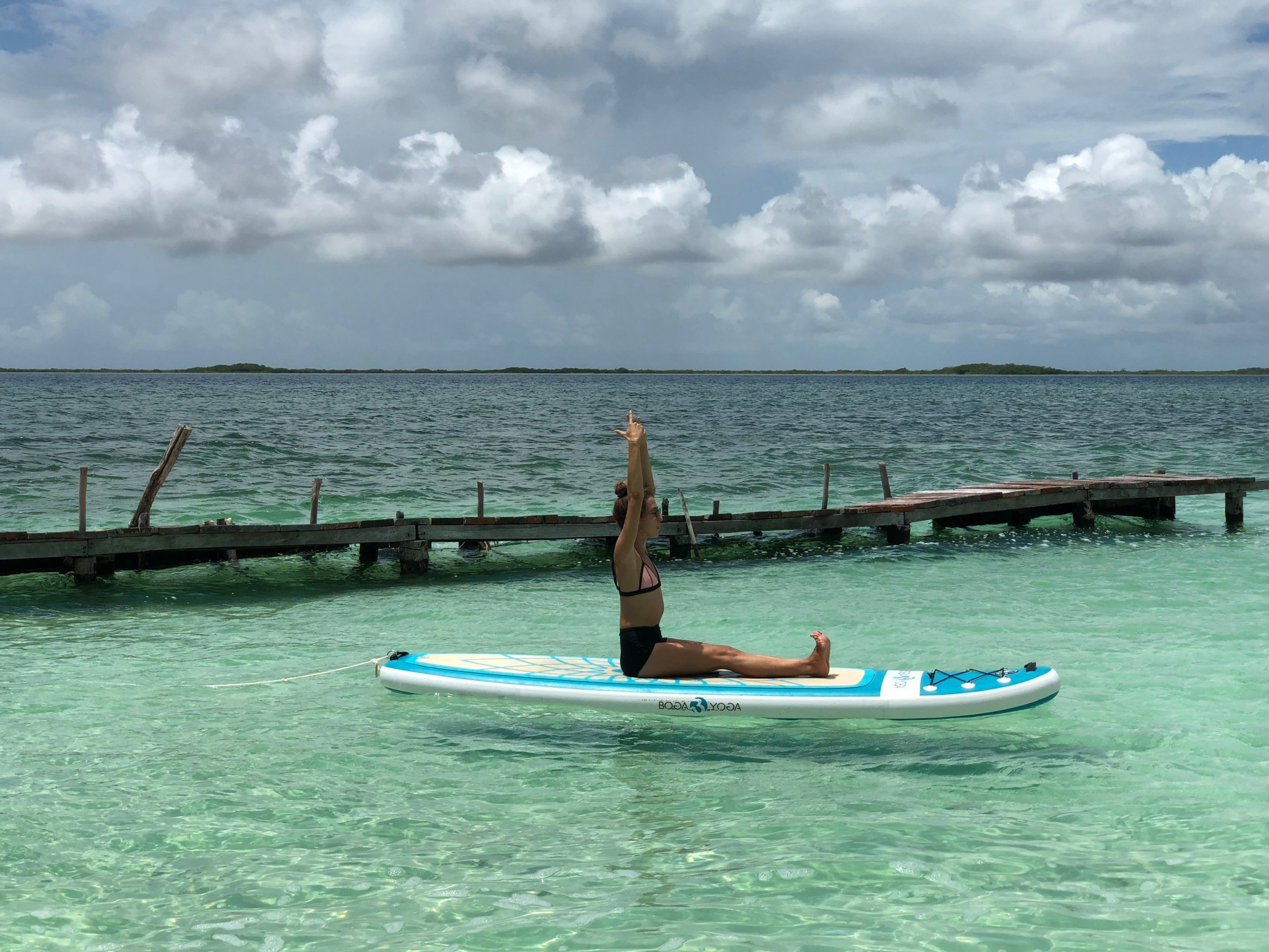 SUP Yoga is a fun way to challenge your balance while enjoying an active day on the water.