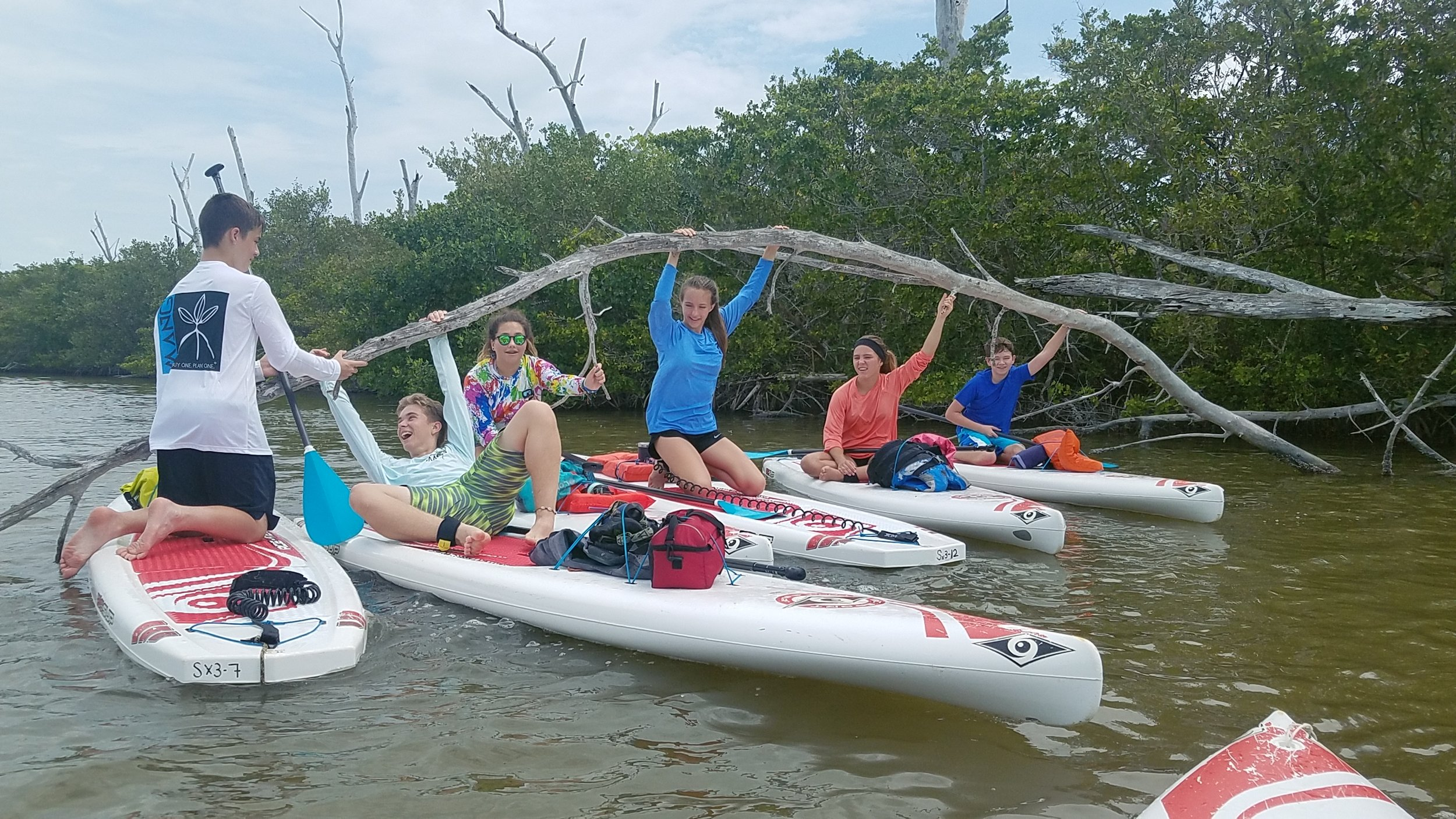 Have Paddle, Will Survive Week campers completed an epic paddle from Picnic Island to Fort Myers Beach.