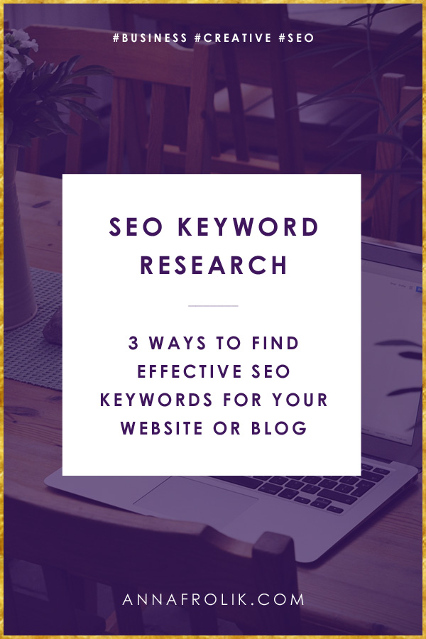 3 Ways to Find SEO Keyword Inspiration for Your Blog or Website | #business #creative #seo #content #blogging