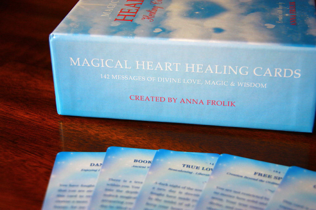 A new version of my  Magical Heart Healing Cards  which I'm testing over at  The Game Crafter  right now.