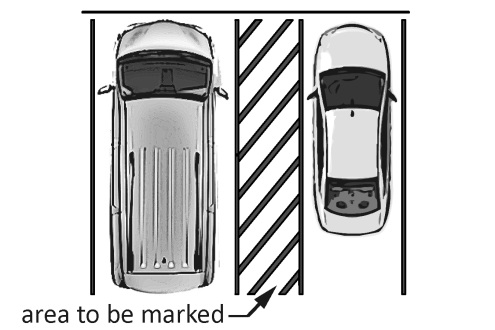 Diagram of accessible ADA parking
