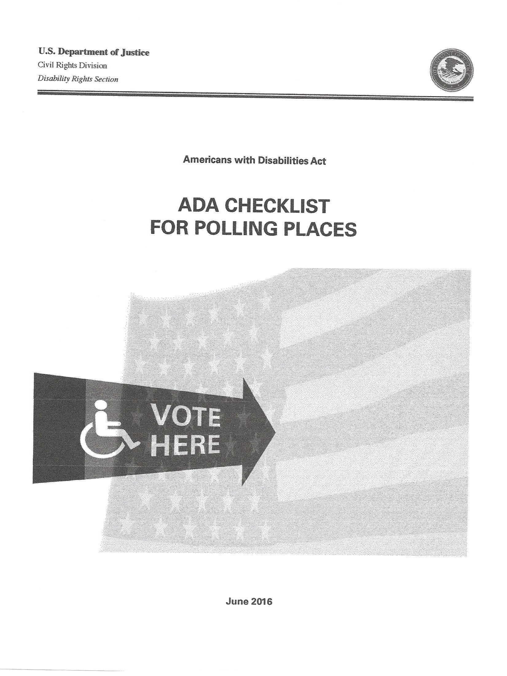 ADA Checklist for Polling Places