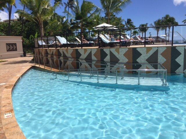 Ramp to Lower Level at Hale Koa Pool