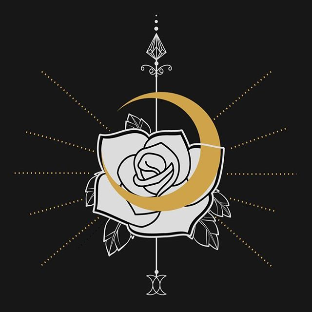 🌹 🌙✨ . . . . #cosmicsuzy #illustration #moon #rose #esoteric #divination #holyrosenashville #design #graphicdesign #identity #brand #logo #designinspo #sacred #nashville #stpetedesign #chicago