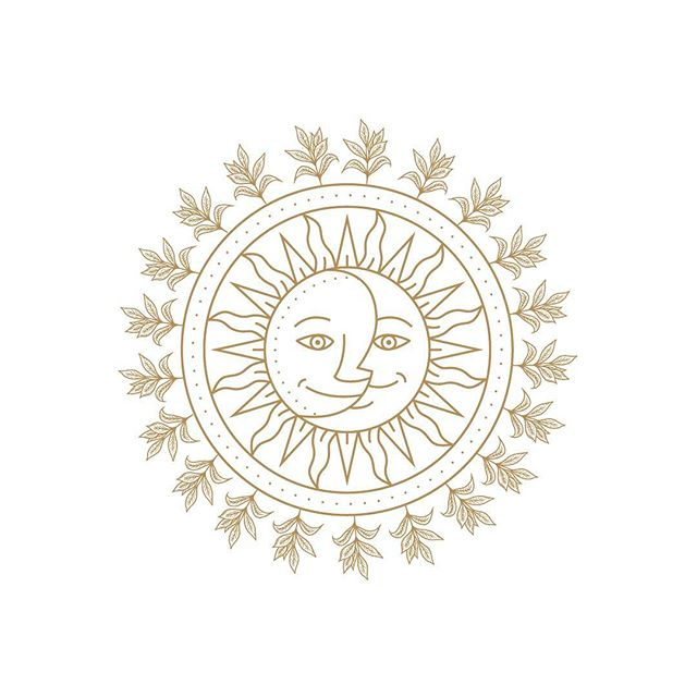 🌚 🌞The sun and the moon - two lovers who are always in chase ... with a circle of tea leaves to foretell their next meeting. . . . . #sun #moon #tea #design #illustration #logodesign #illustragram #empowerment #love #digitalart #sunmoon #designinspo #illustrations #graphicdesign #graphics #suzygalazka #cosmicsuzy #stpete #nashville #chicago #astrology #esoteric #sundays