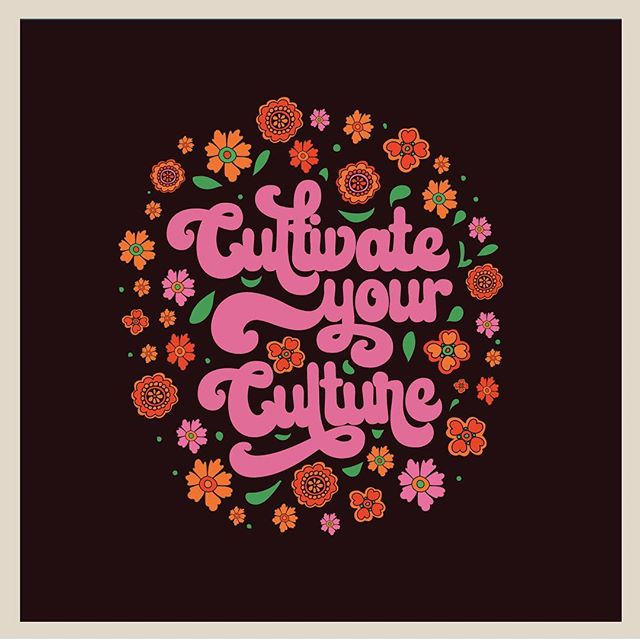 CULTIVATE YOUR CULTURE ✨ I post a lot of pics on my personal page of the good stuff going on and the beauty I see in Gary, Indiana. There's always at least one comment about the bad stuff coming from people who have spent no time here. I don't live in Gary but I do spend a lot of time here. When I am not on the road my home base is just a few miles from Gary. There's a lot of great people doing amazing things there, yes, outside of Miller Beach. The community is embracing, creative and fighting back against the decay of the old. So, here's a little something I made using the catch phrase from a woman owned business in Gary. Check out the love there. 🥰There's a lot there from the nature to the streets. 🙌🏼 . #illustration #groovy #garyindiana #culture #loveyourneighborhood #seventiesvibes #design #graphicdesign #steelcity #travelartist #traveldesigner #wednesdaywisdom #colorinspo #retrovibes #retro #vintage #millerbeach #visitgary #visitmillerbeach