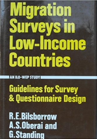 Migration Surveys in Low-Income Countries: Guidelines for Survey and Questionnaire Design , with R. Bilsborrow and A.Oberai (London: Croom Helm, 1984).   Details