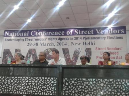 National Street Vendors Conference, New Delhi, March 2014