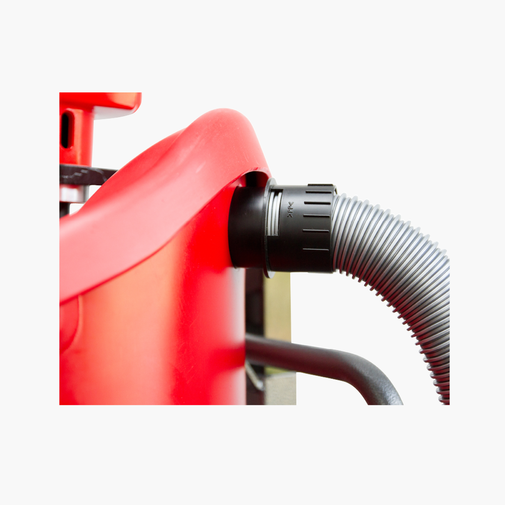 Vacuum port   Optional 5m × 50mm hose, suitable with Standard Canister and Canister with Liner.