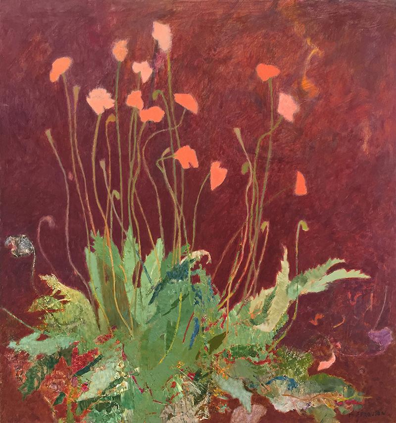 Michael Ferguson, Yard Poppy, acrylic, 32×30 in.