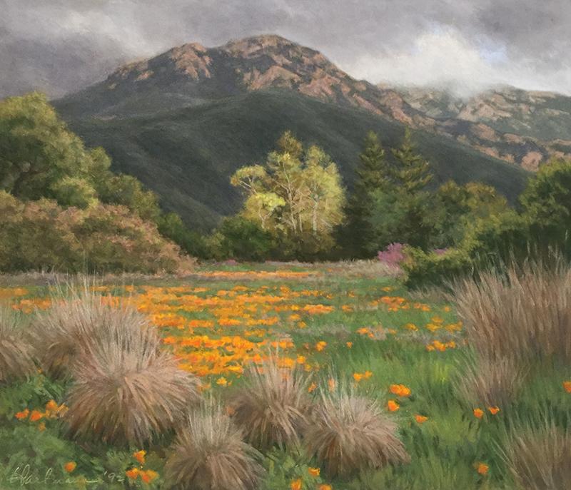"""Glenna Hartmann, """"March Storm,"""" pastel, 15×17.5 in."""
