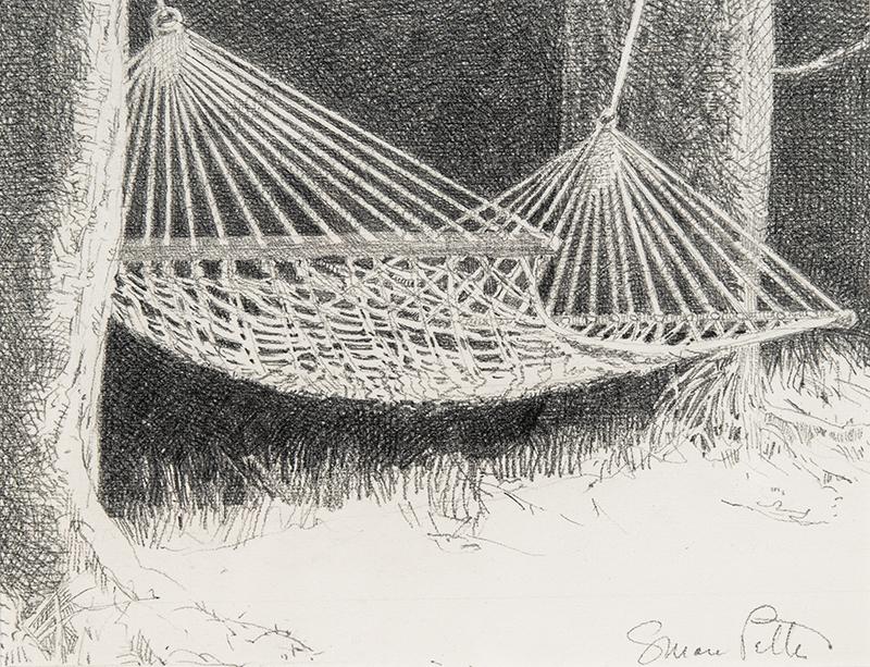 Susan Petty, Hammock, graphite, 6.25×8 in.