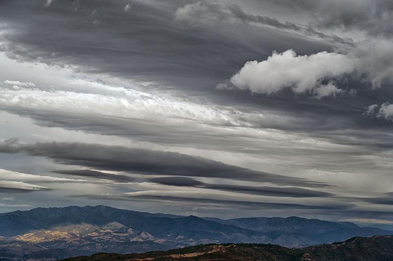 Bill Dewey   Lenticulars over Camino Cielo   photograph 13×20