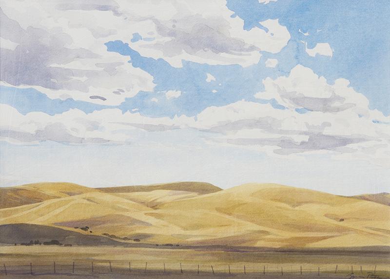 Susan Petty   Cloud Street 2   watercolor 19×27 in.