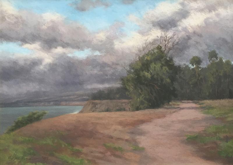 Glenna Hartmann   Storm Clouds   pastel 13.5×20 in.