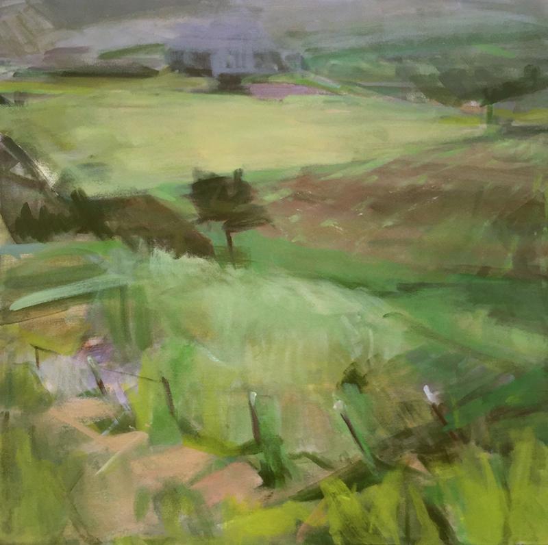 Patricia Doyle   Groundwork   acrylic 20×20 in.