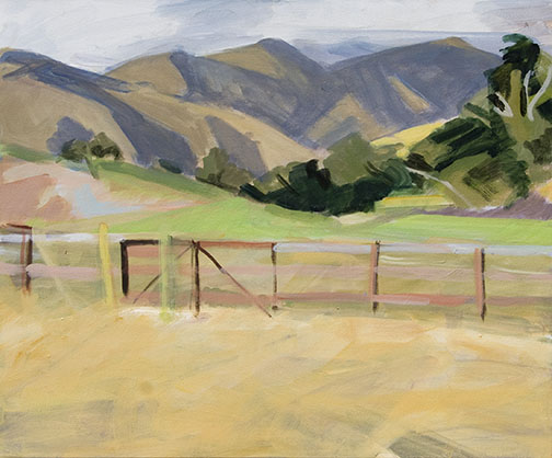 Patricia Doyle   Green Pasture   acrylic 14×20 in.
