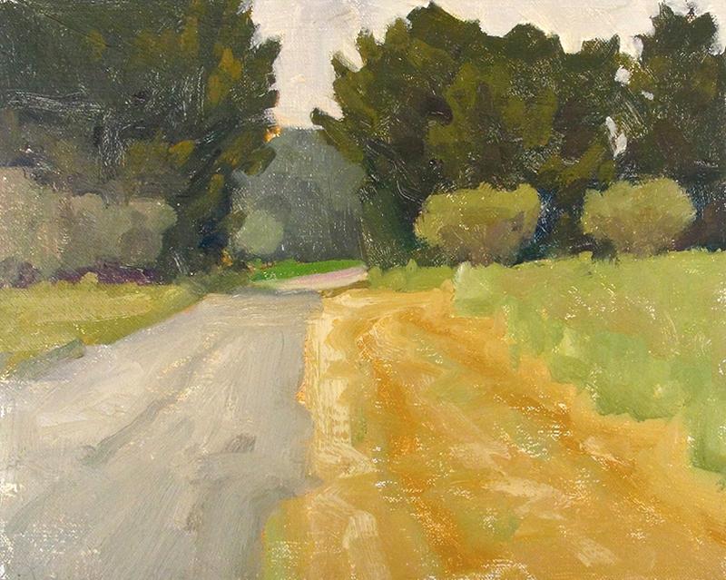 Ian Roberts   The Old Poppy Field   oil 8×10 in.