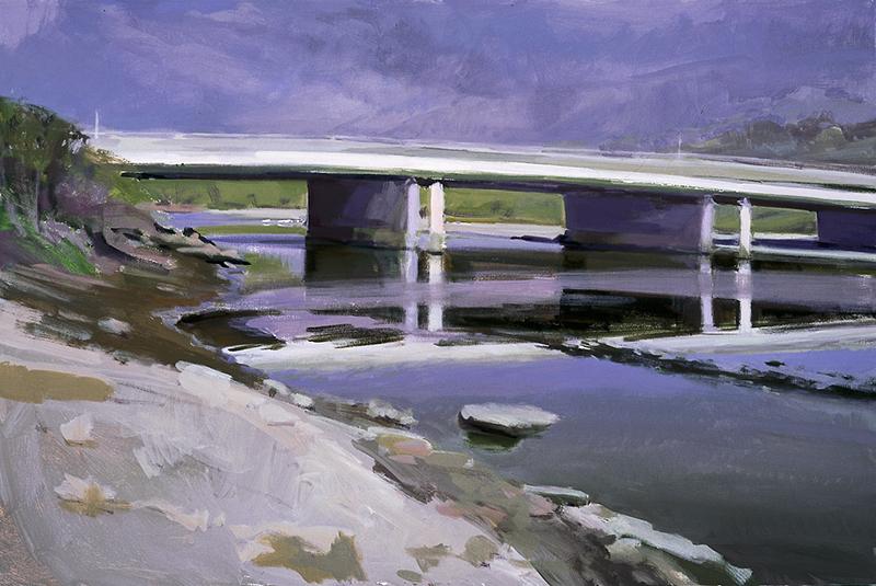 Marcia Burtt   Bridge over the Lagoon   24″ x 36″ acrylic