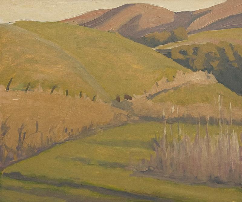 Robert Abbott,  From Alma Rosa , oil, 15x18 in.