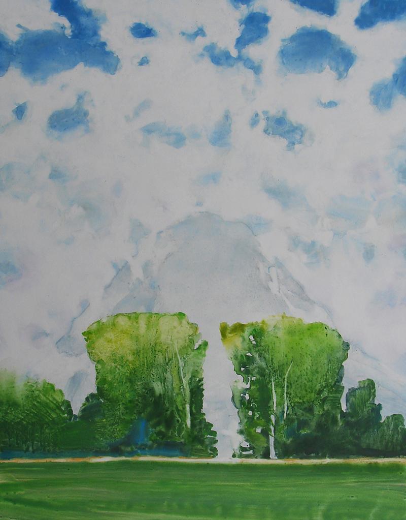 tipton-The Mountain from the Train watercolor on Terraskin 14x11 $425 .jpg