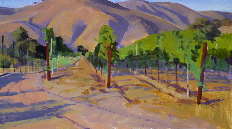 Painting of vineyards