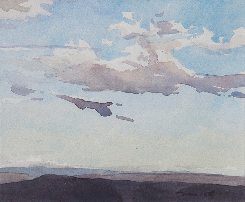 Susan Petty,  Little Black Cloud,  watercolor, 9.5×11.5 in.