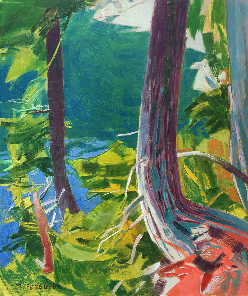 Michael Ferguson, Rainy Lake, oil, 13x11 in.