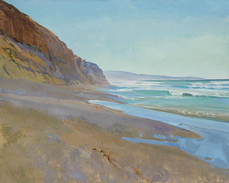 Midday Looking South, Torrey Pines, 48x60 in.