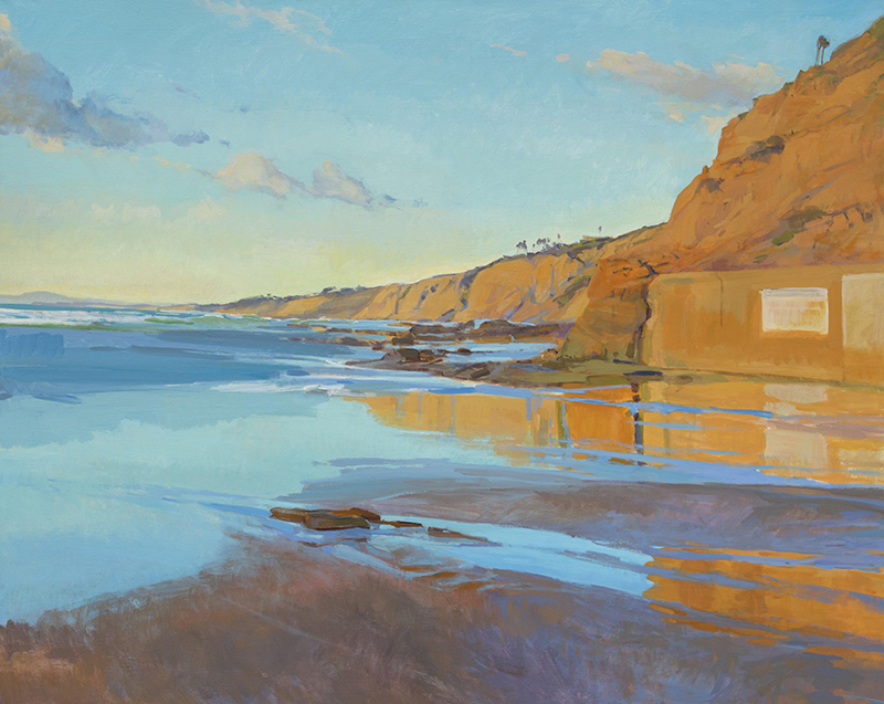 Looking North at Low Tide, Torrey Pines, 48x60 in.