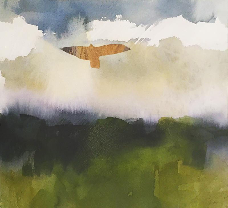 Marilee Krause,  Scope,  watercolor, 9x11 in.