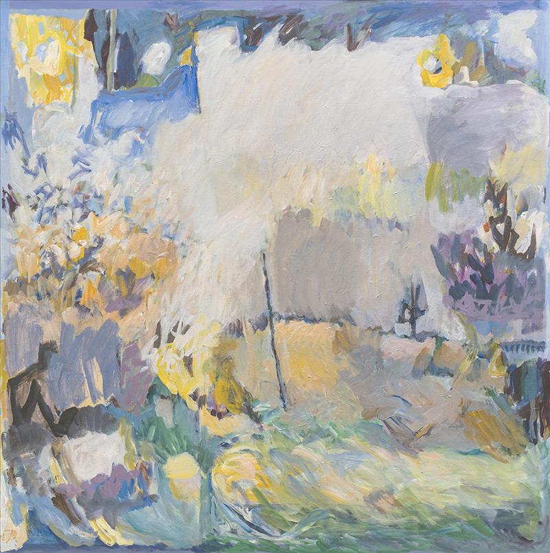 Tobert, City Light, 48x48 in. painting