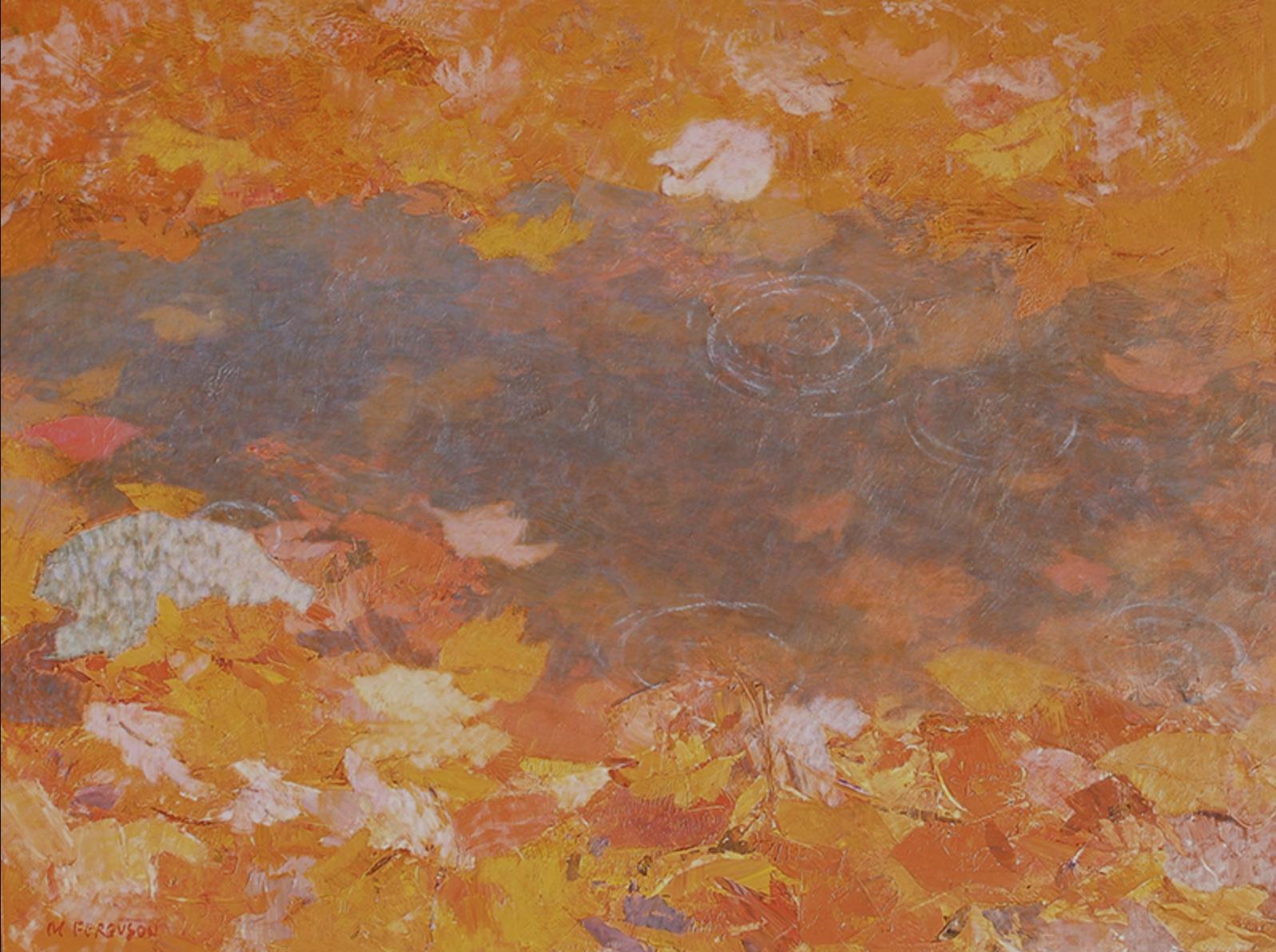 Michael Ferguson,  Leaf Pool, acrylic,  25×33in.