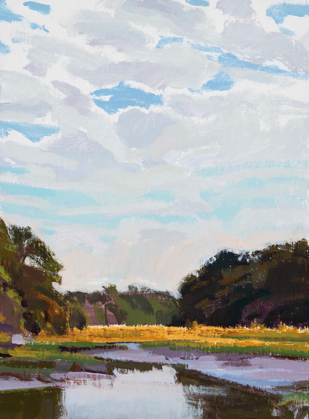 Marcia Burtt,  September Sky,  acrylic, 16x12 in.