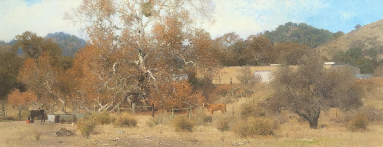 Ann Lofquist,  Dry December , oil, 26.75x69 in.