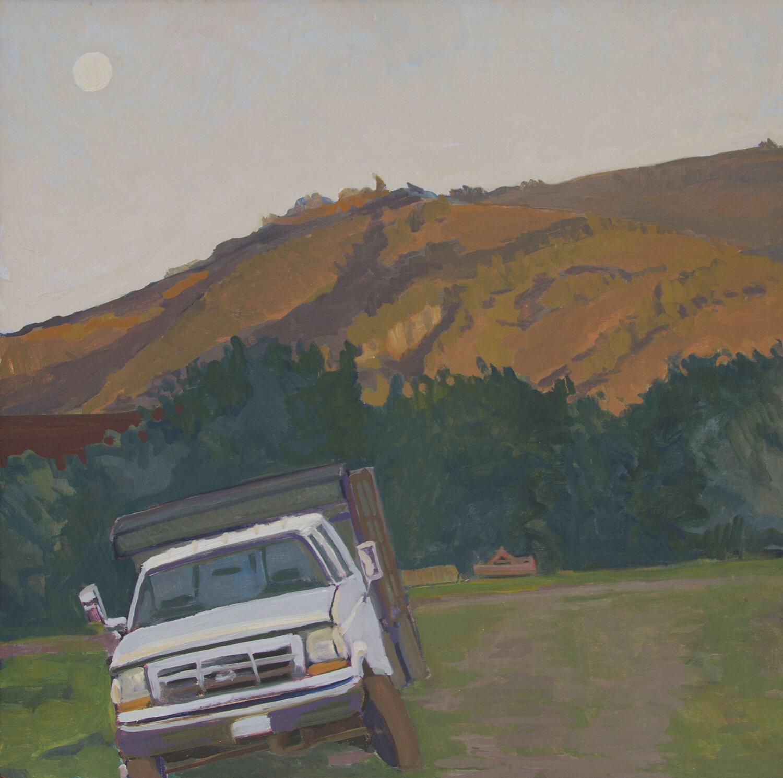 Robert Abbott,  Stuck Truck , oil, 36x36 in.