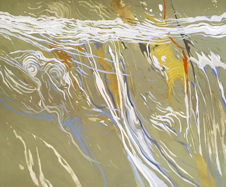 Susan Petty,  Water Circus , oil, 60x72 in.