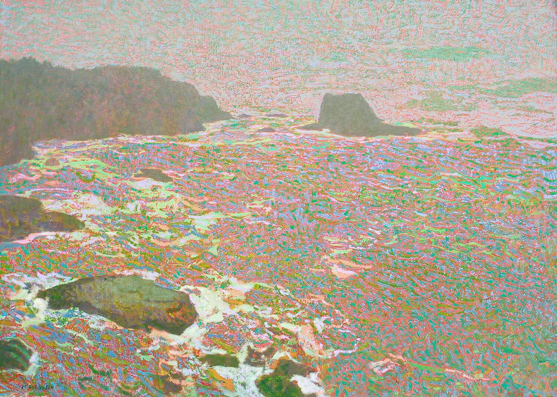 Michael Ferguson,  Cape Flattery , acrylic, 31x43 in.