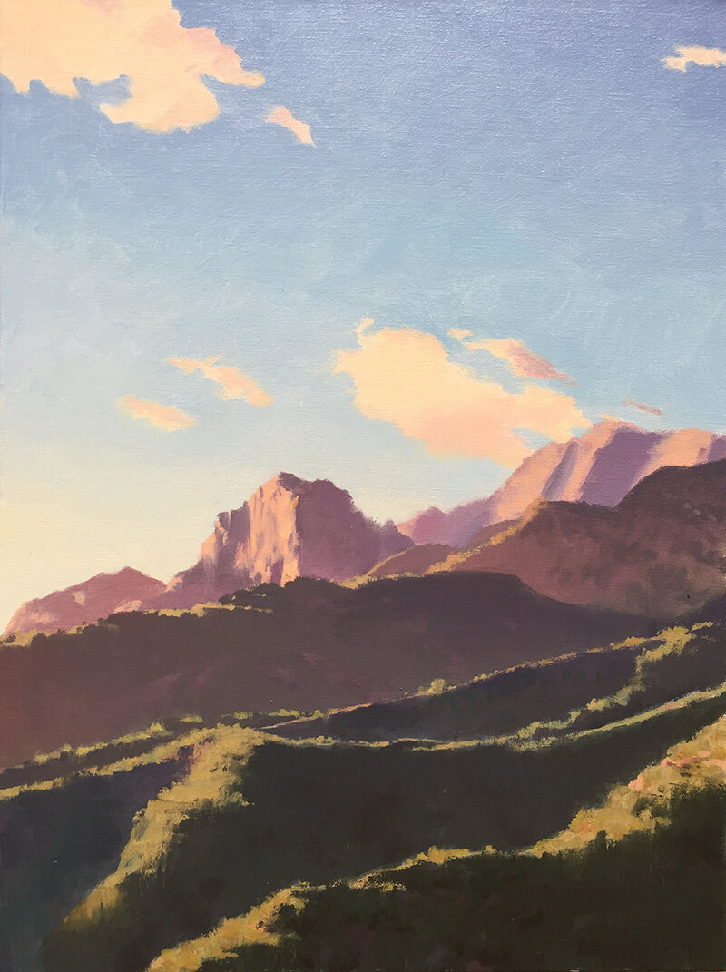 Erling Sjovold,  Ridgeline from Sycamore Canyon , oil, 24x18 in.