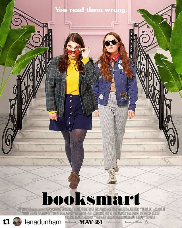 "*Cult Movie Alert* What Do We Want? Great Movies Directed by Female Directors about Real Female Friendships! When Do We Want it? NOW!!! . . Booksmart is one of the best movies I've seen in a long time. Fun, smart, sexy with an amazing cast and an incredible soundtrack. You can take my word for it or just read what others said about it 👇. Go watch it in theaters! If we want more movies like these to be made (I Do!), we have to speak the language studios understand 💸🎟️ . . #Repost @lenadunham (@get_repost) ・・・ A few years ago, I was chatting with @oliviawilde at an event where she was both pregnant and wearing a sparkly dress (and making both look easy.) She said she was thinking of directing a movie but was a little fearful. I said what I always say to women who want to make movies... ""Just go for it!"" (After all, dudes do things without knowing whether they're actually capable of them all the time. See: the government). It turns out she had nothing to fear and NO reason to ask me for advice-- @booksmart is a miracle. Not only is it the funniest movie I've seen in years, it's also the most inventive. Olivia directed the shit out of the warm and quietly revolutionary story, and the result is some of the most stylish and thoughtful work I've had the pleasure of seeing in a long time. Run, don't walk-- this is one you're going to want to see in theaters, with the Molly to your Amy... ❤️ 👭 #BooksmartMovie"