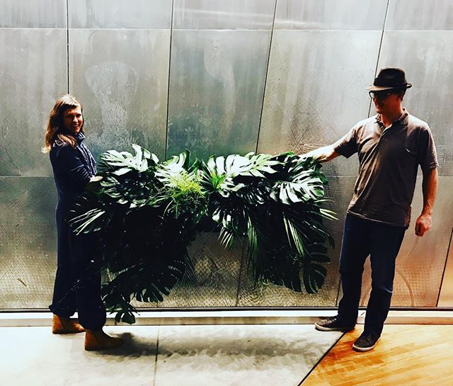 Two gorgeous people got married under the Monstera leaves today - here is the bower I made for their special day ... stay tuned for more wedding plant spam #plantstyle #lovemyjob #monstera