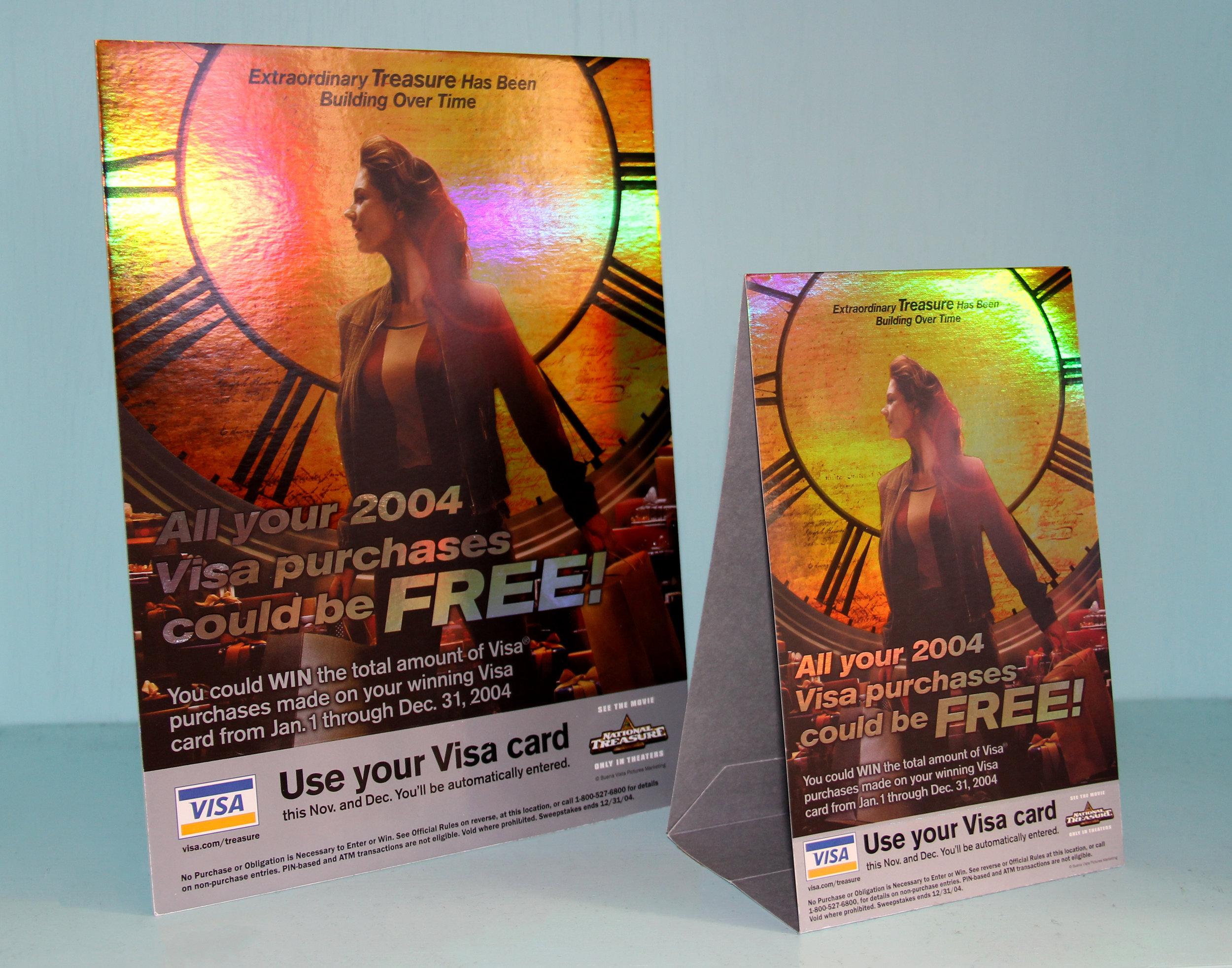 Visa National Treasure Point of Sale Card