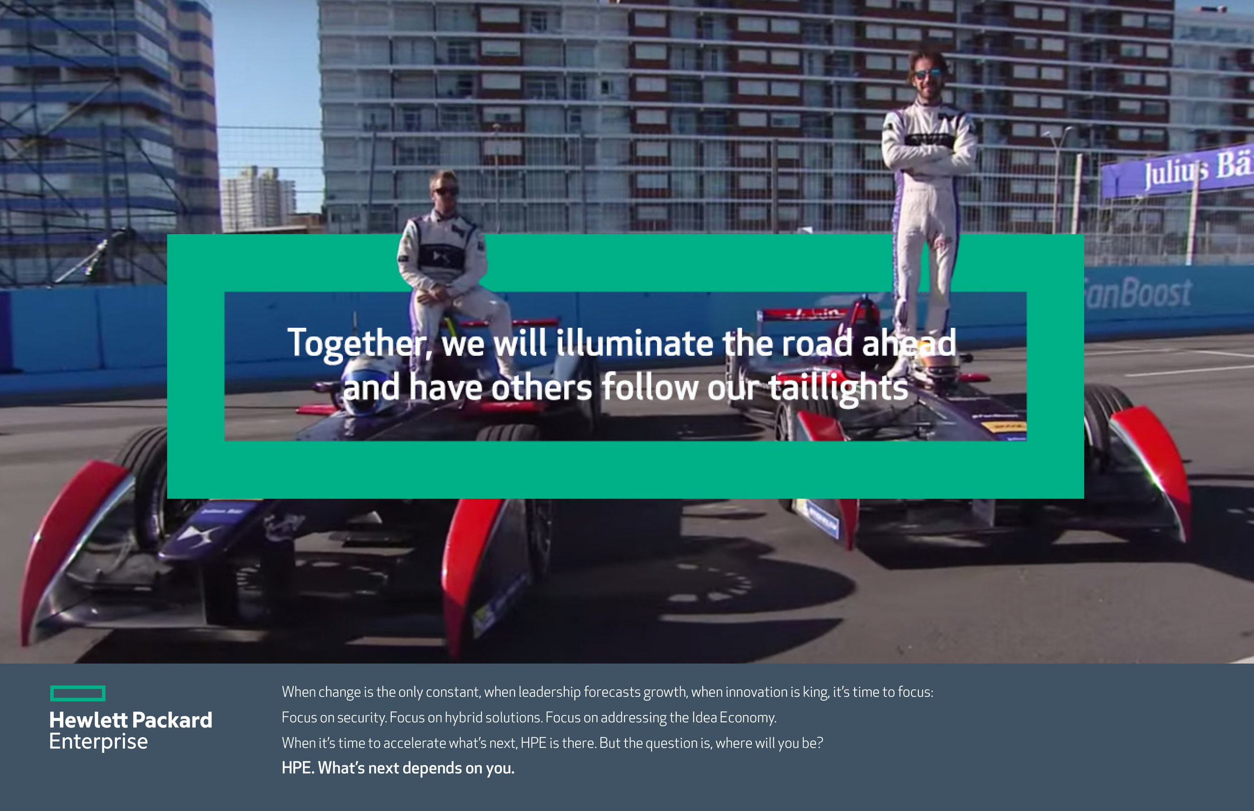 HPE Formula E Brand Ad