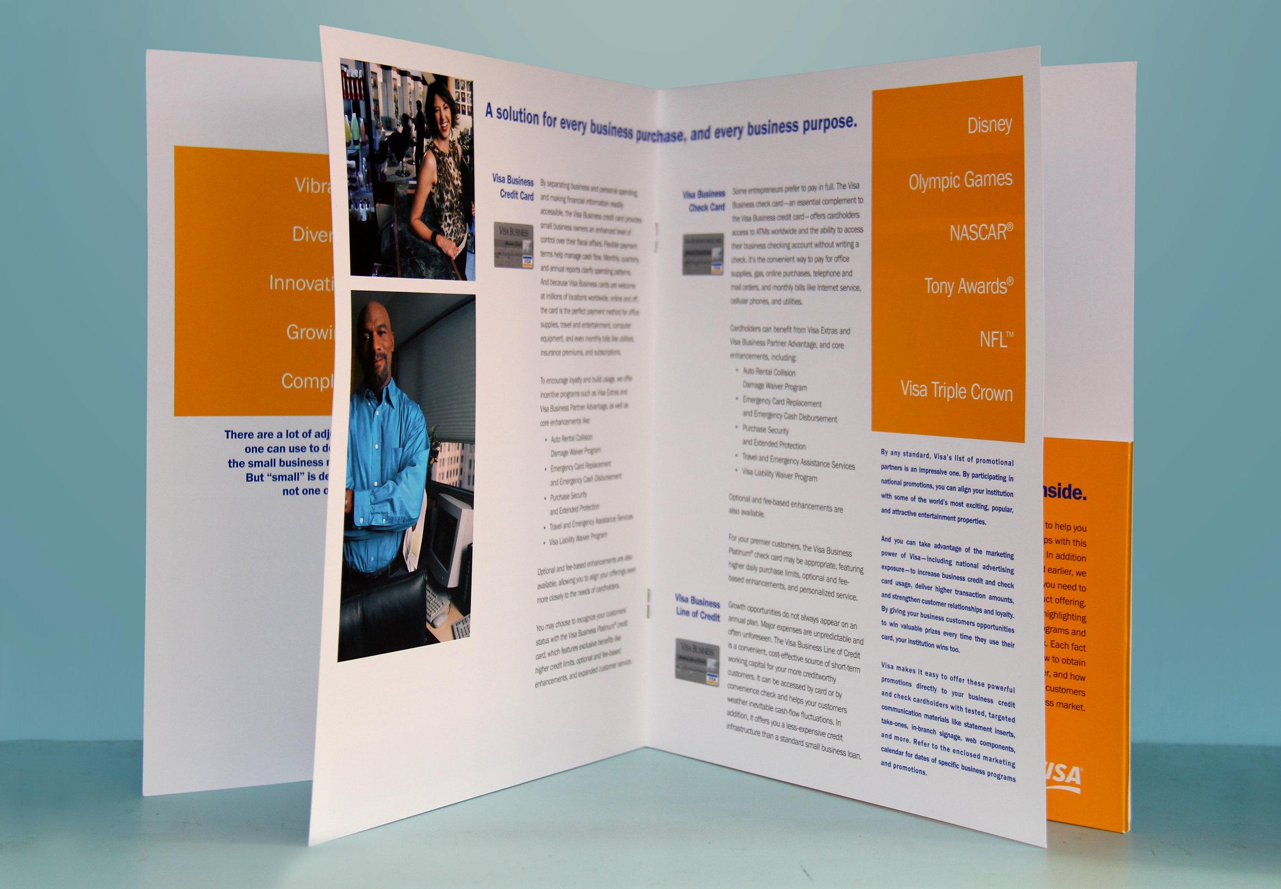 Visa Small Business Marketing Brochure Interior
