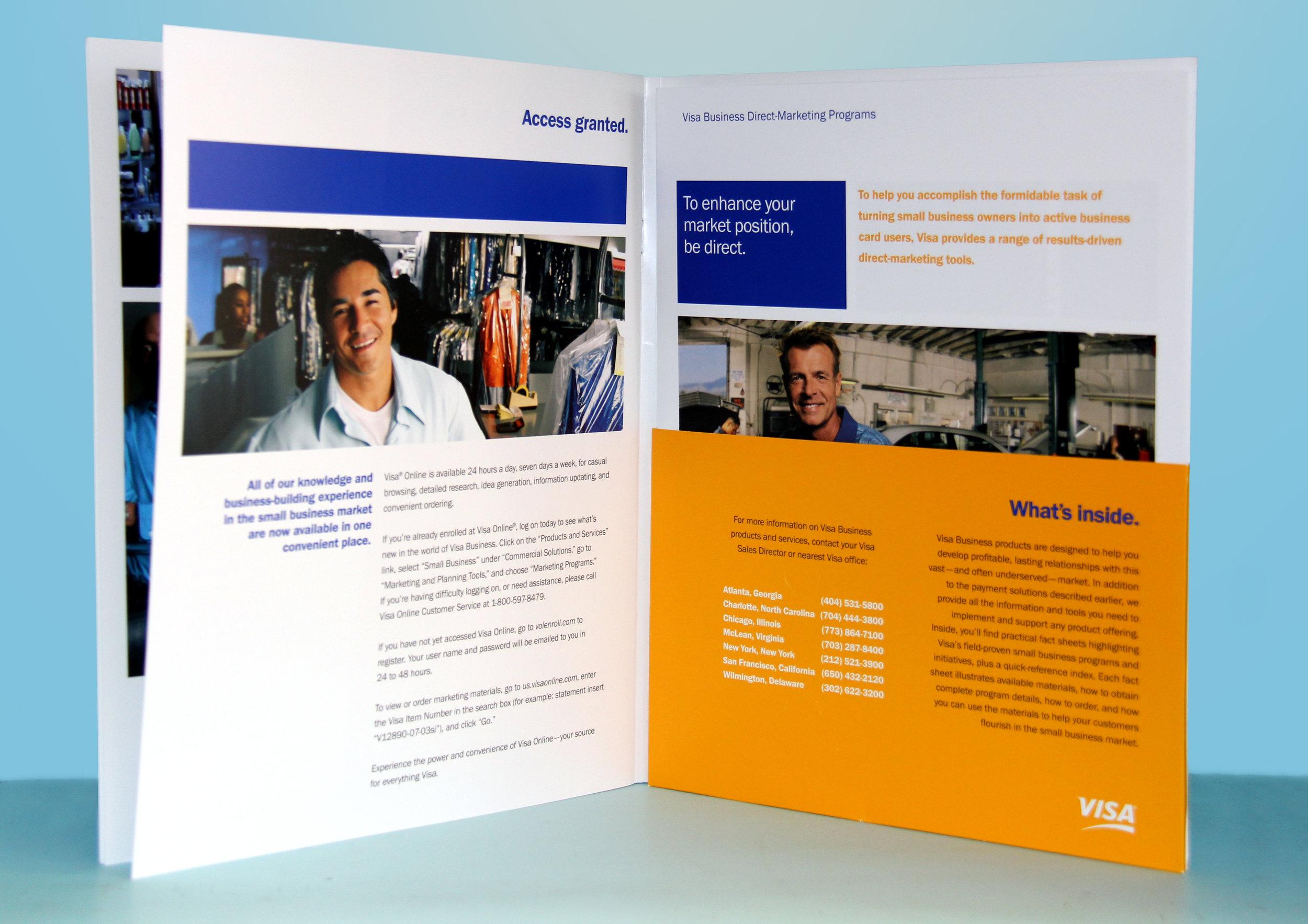 Visa Small Business Marketing Pocket Folder