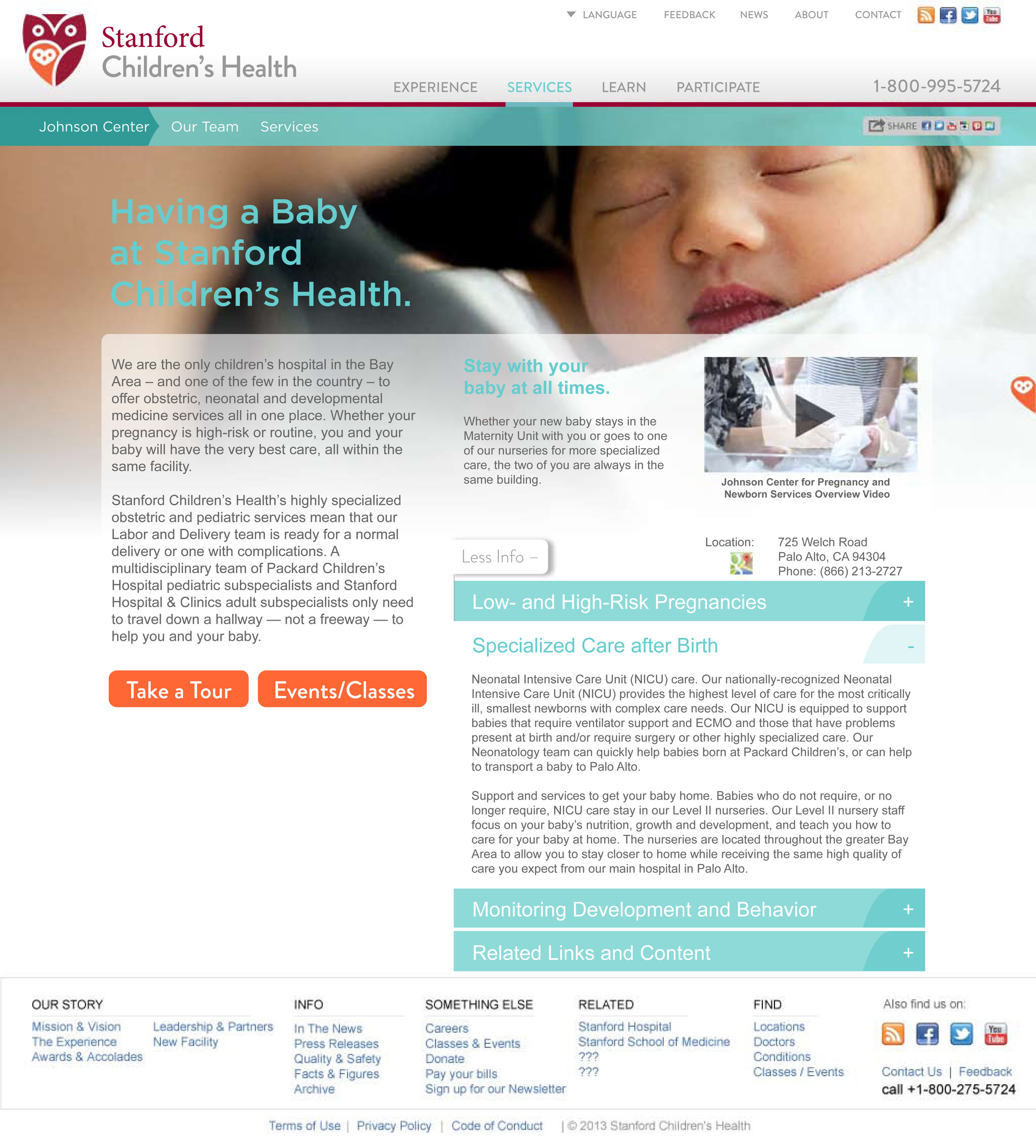 Stanford Children's Health Website Expanded Content