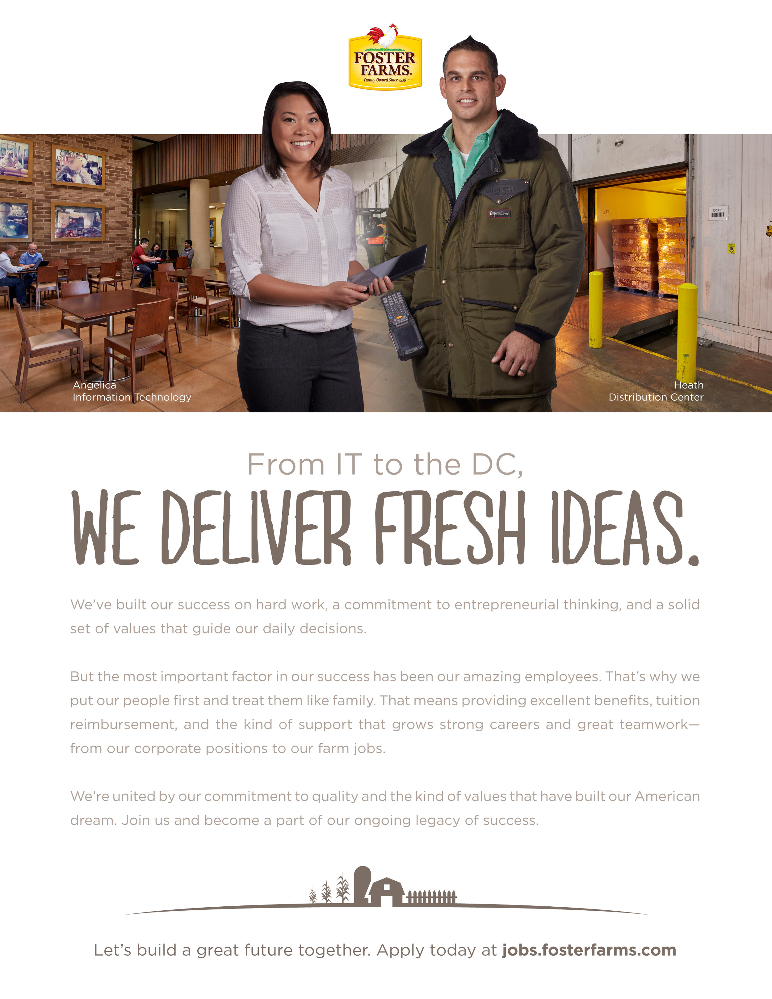 Foster Farms Brand Messaging and Design